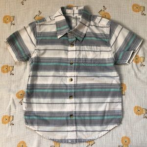 Toddler Boys Striped Button Shirt